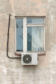 Window with air conditioning — Stock Photo