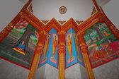 Interior of a Buddhist temple — Stock Photo