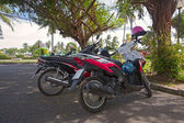 Motorbikes in the parking — Foto Stock