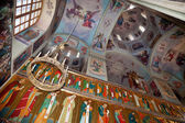 Interior of the Assumption Cathedral in Valday monastery , Russi — Stock Photo