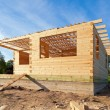 Construction of a new wooden house. — Foto Stock