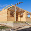 Construction of new wooden house. — Stock Photo #12640768
