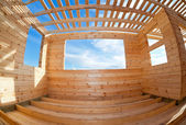 Bau eines neuen holzhauses. — Stockfoto