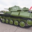 Old soviet light tank T-70 — Stock Photo