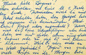Fragment of an old handwritten letter, written in German. — Stock Photo