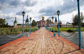 VALDAY, RUSSIA - AUGUST 19, 2012: Pier in Iversky monastery on V — Stock Photo
