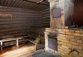 Brick oven in a Russian bath — Stock Photo