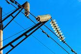 Пилон электроэнергии высокого напряжения — Стоковое фото