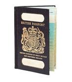 Front shot of old style british passport — Stock Photo