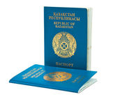 Kazakhstan passport isolated on white — Stock Photo