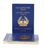 Republic of Afghanistan Passport isolated on white — Stock Photo
