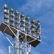Lighting floodlights at the stadium — Stock Photo