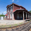 Stock Photo: Provincial Railway Station in Borovichi, Russia