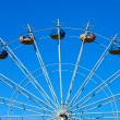 Royalty-Free Stock Photo: Ferris wheel over blue sky background