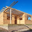 Construction of new wooden house. — Stock Photo #14452829
