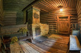 Brick oven in a traditional russian bath — Стоковое фото