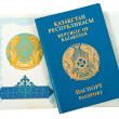 Kazakhstan passport on white background — Stock Photo