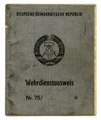 German (GDR) Military ID — ストック写真