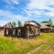 Old wooden house in russian village. Novgorod region, Russia. — Stock Photo