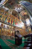 ヴァルダイ修道院、ロシアの聖母被昇天大聖堂の内部 — ストック写真