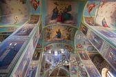 Interior of the Assumption Cathedral in Valday monastery, Russia — Stock Photo