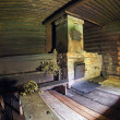 Stock Photo: Interior of Russitraditional wooden bath