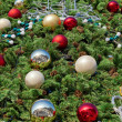图库照片: Decorations of Christmas tree