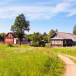 Russian village in summer day - Photo