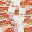 Russian rubles banknotes as background — Stock Photo #19013569