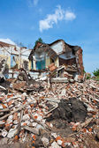 Destroyed building, can be used as demolition, earthquake, bomb, — Stock Photo