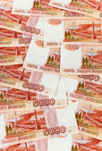 Russian rubles banknotes as background — Stock Photo