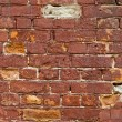 Old  red brick wall as background — Stock Photo