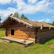 Ancient traditional russian wooden house X century — Stock Photo