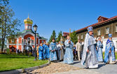 VALDAY, RUSSIA - AUGUST 10:The annual sacred religious processio — Stock Photo