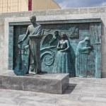 Постер, плакат: SAMARA RUSSIA MAY 26:Monument to Soviet singer songwriter