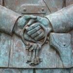 ������, ������: SAMARA RUSSIA MAY 26: Fragment of Monument to Soviet singer