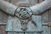 SAMARA RUSSIA -- MAY, 26: Fragment of Monument to Soviet singer, — Stock Photo