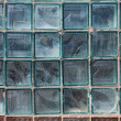 Old grunge glass block wall as background — Stock Photo