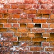 Old weathered grunge red brick wall as background — Stock Photo #23414136