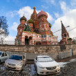 Stock Photo: MOSCOW - APRIL 07: St. Basil Cathedral on Red Square on April 07