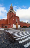 Spasskaya Tower of the Moscow Kremlin. Fisheye — Stockfoto