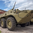Wheeled amphibious armoured personnel carrier BTR-80 - Stock Photo