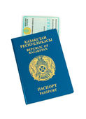 Kazakhstan passport and national id isolated on white background — Stock Photo