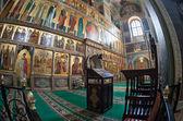 Intérieur de l'Église orthodoxe russe à Valdaï, Russie — Photo