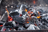 Decaying coals for cooking — Stock Photo