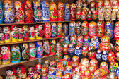 NOVGOROD - AUGUST 10: Very large selection of matryoshkas Russia — Foto de Stock