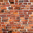 Old weathered grunge red brick wall as background — Stock Photo #31394471