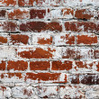 Old weathered grunge red brick wall as background — Stock Photo