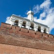 Bell tower of St. Sophia Cathedral in Velikiy Novgorod, Russia — Stock Photo