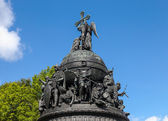 NOVGOROD - AUGUST 10: Monument to the 1000th anniversary of Russ — Stock Photo